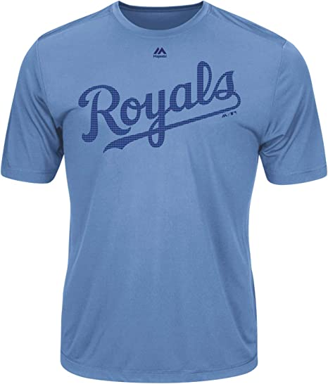 Majestic Athletic Kansas City Royals Custom (Any Name/#) or Blank Back Licensed Replica Jersey Tee
