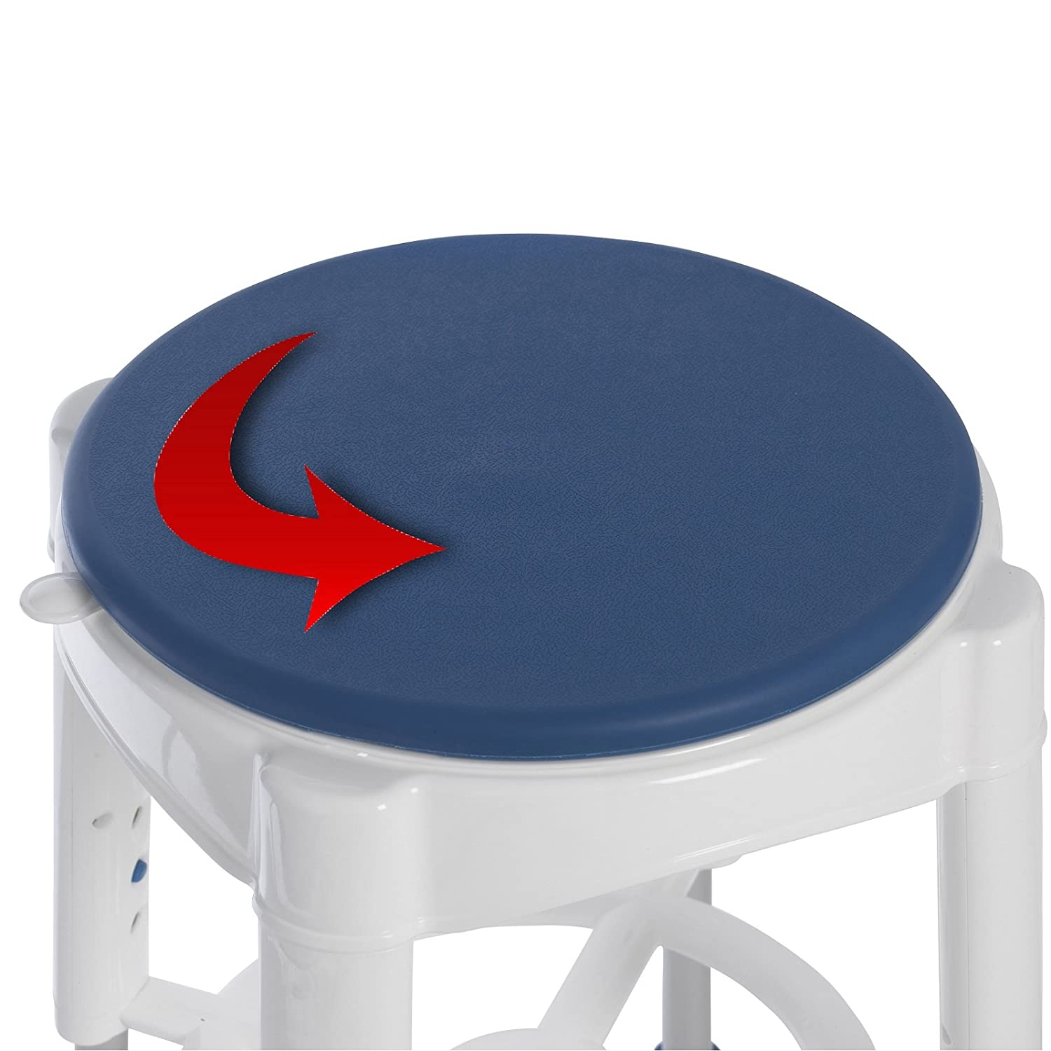 Round Shower & Bath Stool, With Rotating Seat - Height Adjustable ...