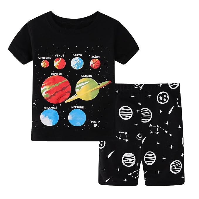869d08855 Amazon.com  Little Kids Sleepwear Short Sleeve Pajama Set with ...