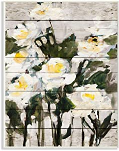 Stupell Industries Abstract Wood Panel Flower Painting Signs and Plaques, 10 x 15, multi-color