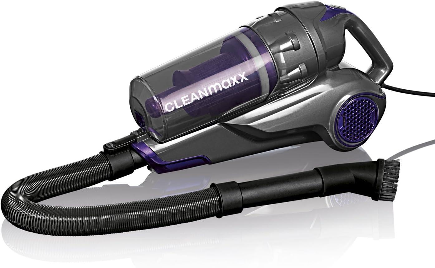 Cleanmaxx 01593 MEGAPOWER Aspiradora de mano | 2 in1 de mano y aspiradora, 600 W, Gris y morado: Amazon.es: Hogar
