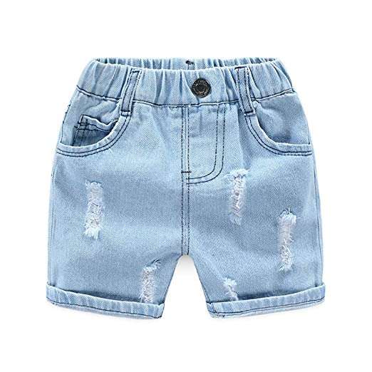 3531f974a0 Amazon.com: LAPLBEKE Baby Boys Shorts Kids Denim Stretch Waistband ...