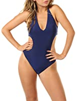 Ralph Lauren Women's Monokini Halter Swimsuit