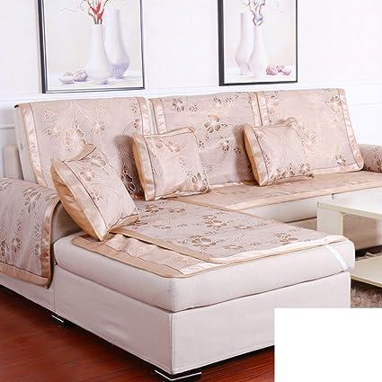 Amazon.com: HDVHXVHJWCXHXF Sofa Cushion in Summer/Fabrics,Ice Silk ...