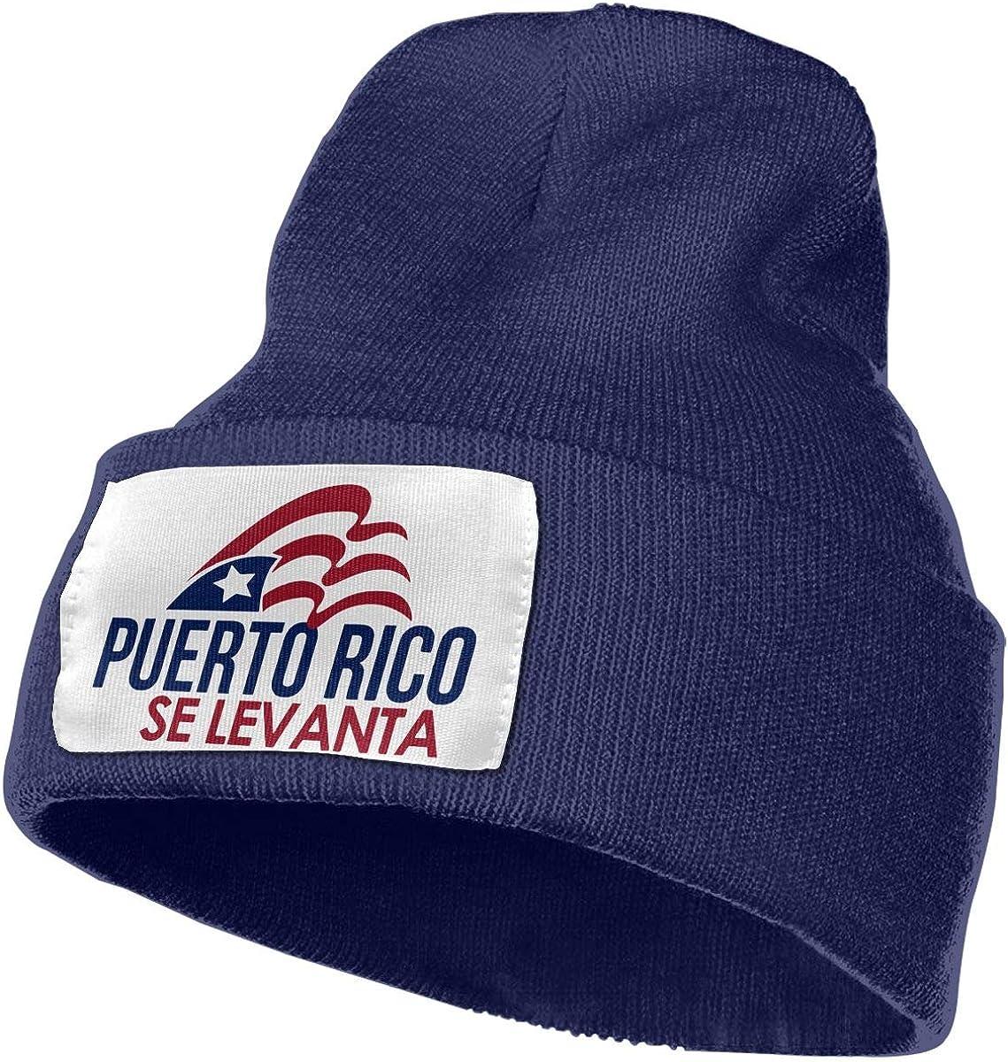 Puerto Rico Se Levanta 1 Women and Men Skull Caps Winter Warm Stretchy Knit Beanie Hats
