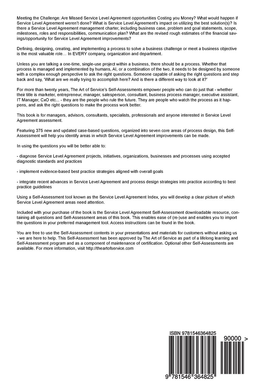Service Level Agreement Complete Self-Assessment Guide: Gerardus