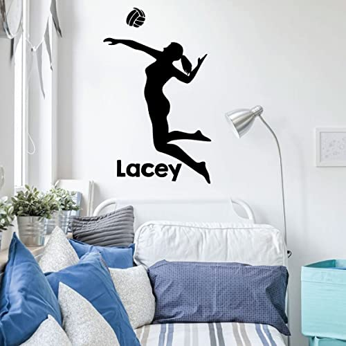 Amazoncom Volleyball Wall Decal Personalized Vinyl Decor For - Custom vinyl wall decal equipment