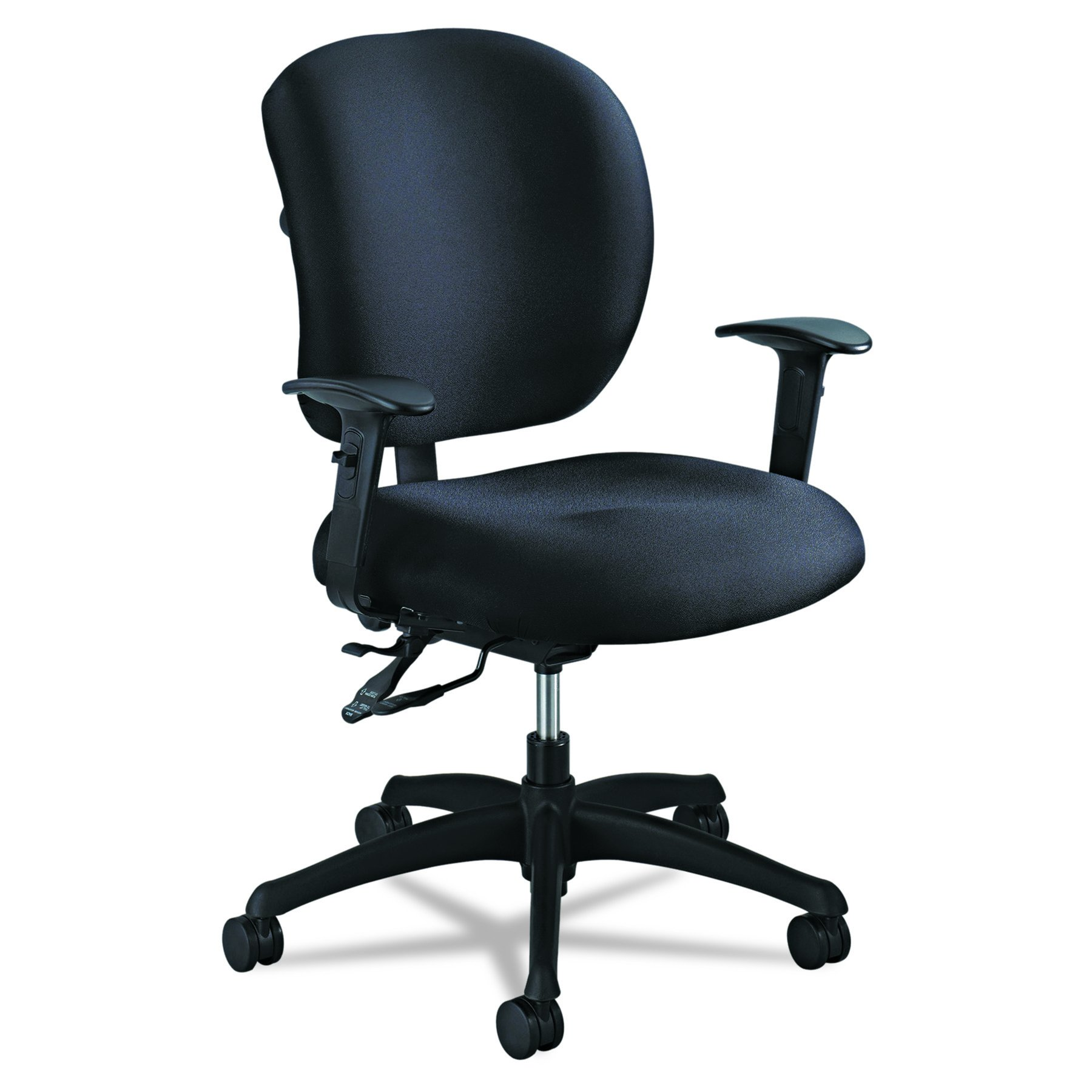 Safco Products 3391BL Alday 24/7 Task Chair (Optional arms Sold Separately), Black