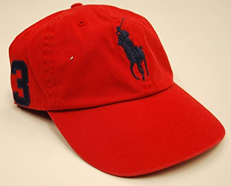 7b99abf4 Polo Ralph Lauren Mens Big Pony Adjustable Hat, Vintage Red (Vintage Red):  Amazon.co.uk: Clothing