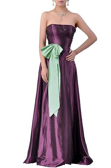 e5bc81caeeff Adorona Natrual Taffeta A-line Strapless Long Bridesmaid Dresses, Color  Grape Purple ,2