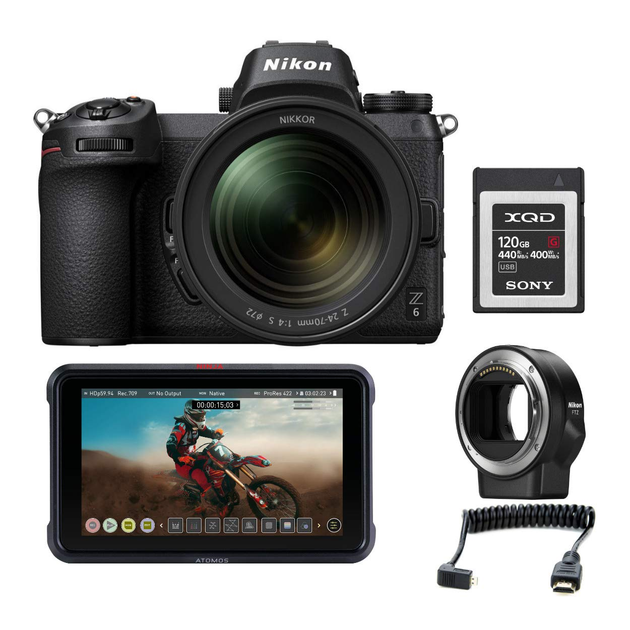 Amazon.com : Nikon Z6 Mirrorless Digital Camera with 24-70mm ...