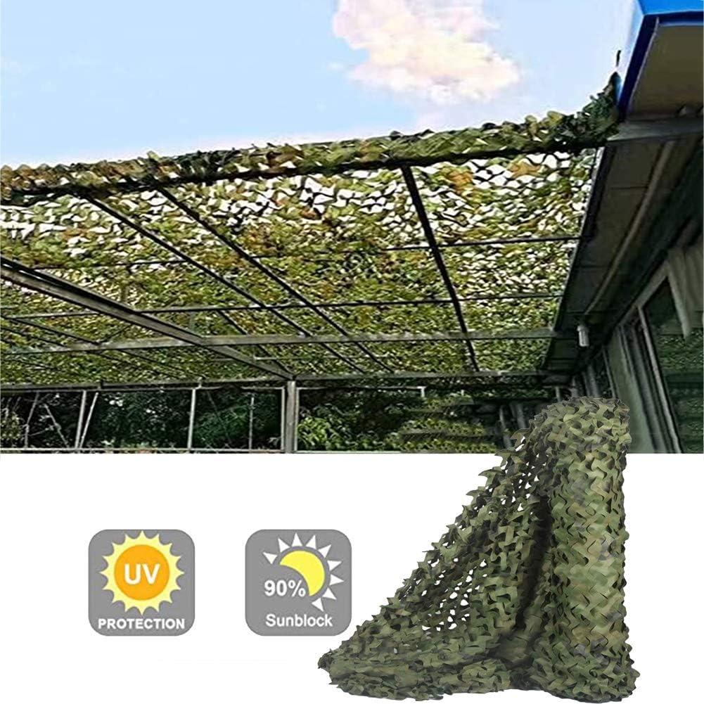 GDMING オーニング シェード遮光ネッ シェードクロス 庭園 植物カバー 迷彩 UV保護 防塵 通気性 アウトドア レクリエーション シェードセイル プライバシー 画面 、44サイズ (Color : Green, Size : 9x9m)