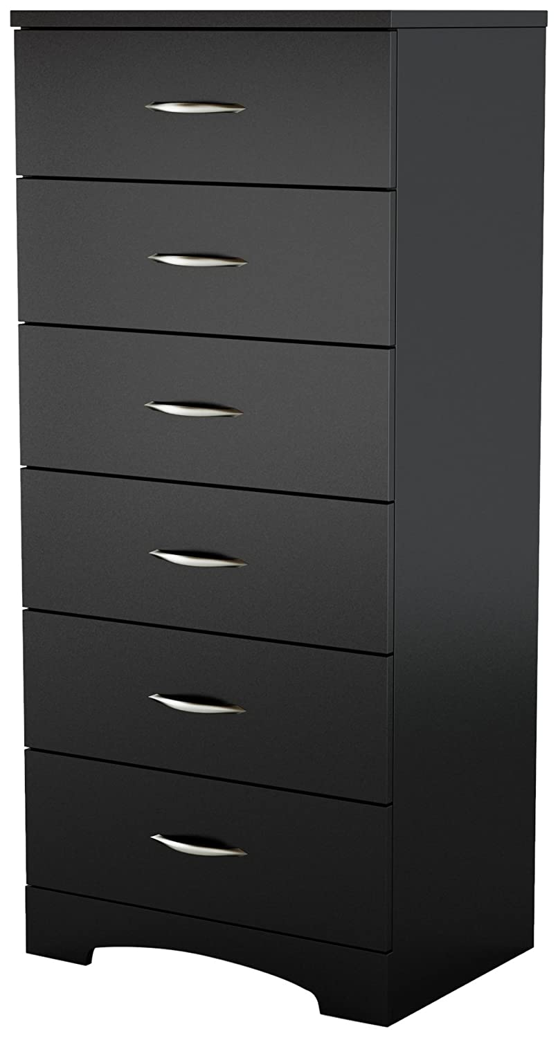 Amazon Com South Shore Step One Collection  Drawer Chest Pure Black Kitchen Dining