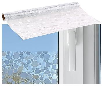 Infactory Blickdichte Fensterfolie 3d Sichtschutz Folie Kiesel
