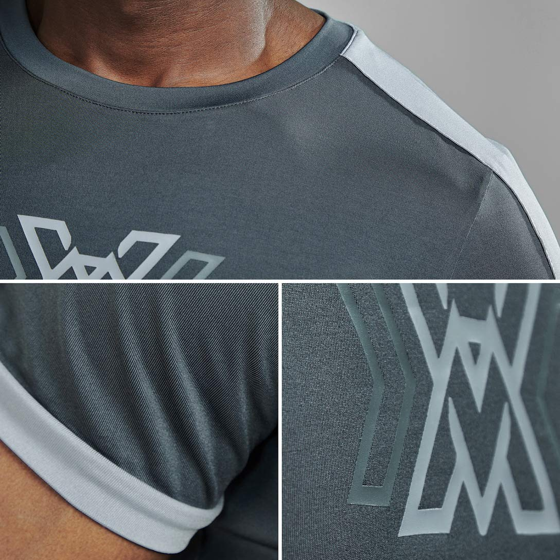 AIMPACT Mens Workout Shirts Training Shirts Athietic Tees Bodybuilding Shirts
