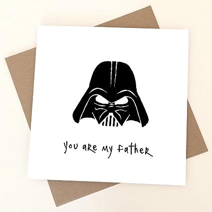 Papá eres mi padre Tarjeta de cumpleaños - Darth Vader, Star ...