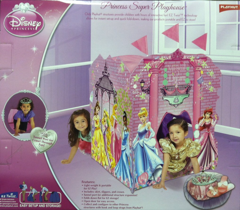 Playhut Disney Princess Super Playhouse with Princess Accessories (Crown and Shoes)