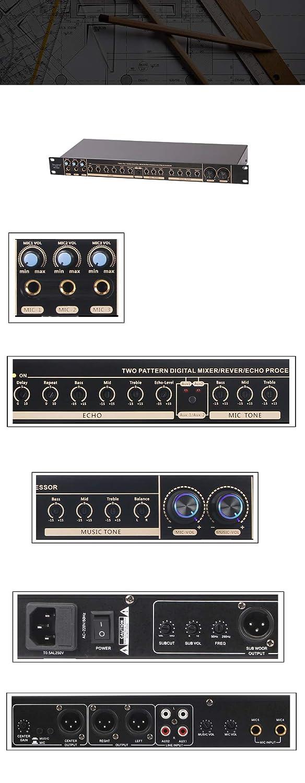 Depsheng W3 Professional Sound System Karaoke Digital Audio Reverb Effect Processor Prevent Howling Depusheng