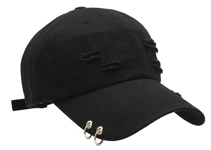 Unisex Daily Style Baseball Caps Ring Stud Piercing Design 8d00dcd6e447