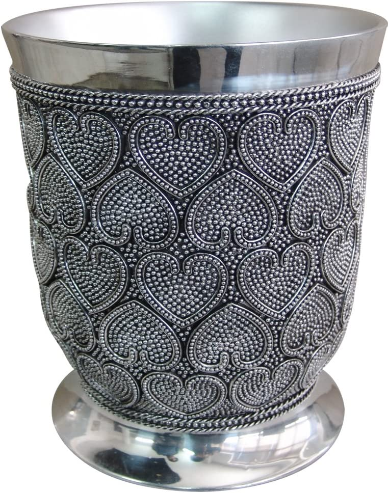 nu steel Beaded Heart Tumbler by The Tatara Group