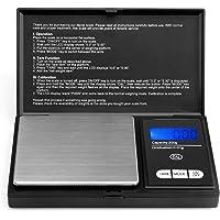 Acale Elite Portable Digital Pocket Scale 200 x 0.01g, con display LCD retroilluminato, scala mini bilancia 200g per la ricarica di monete e scala da cucina