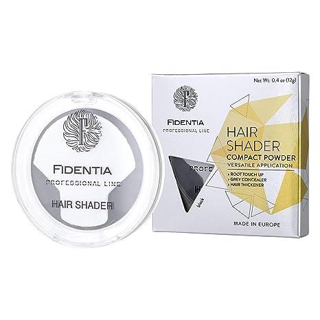 Fidentia Maquillaje Capilar - Corrector de Pelo - Retoca las raíces, canas y la pérdida de cabello al instante