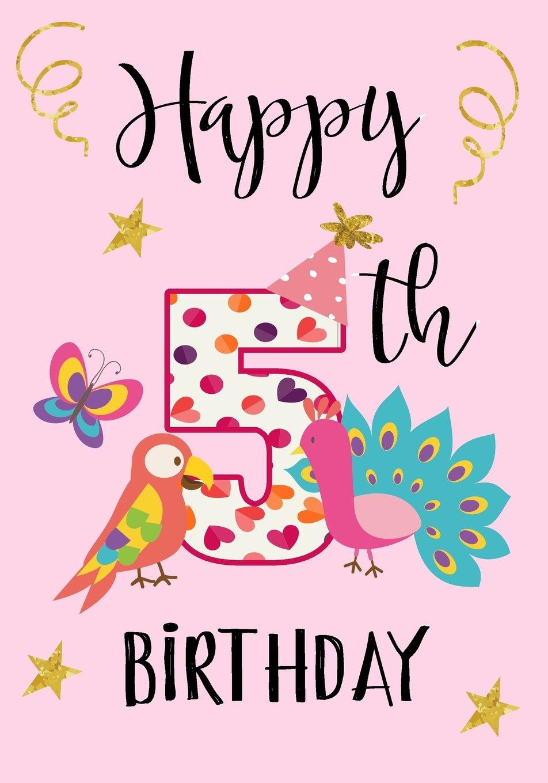 Happy 5th Birthday Keepsake Journal Notebook For Best Wishes