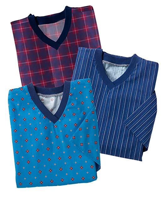 3 Pack Savings - Hospital Gowns - Mens Flannel Open Back Adaptive ...