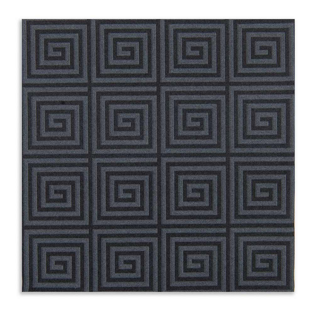 Luxenap Air Laid Dinner Napkins - Soft and Durable 16'' x 16'' Greco Black Paper Napkins - Disposable and Recyclable – 600-CT – Restaurantware