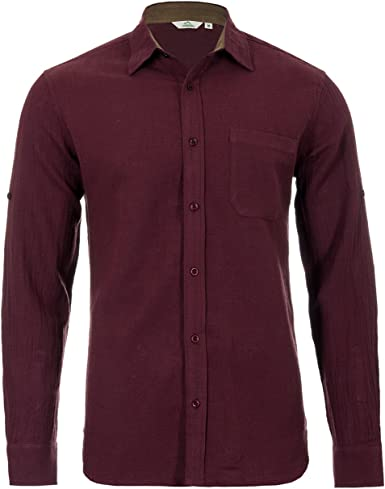 Camisa casual de algodón orgánico y cáñamo - cuello o sin cuello