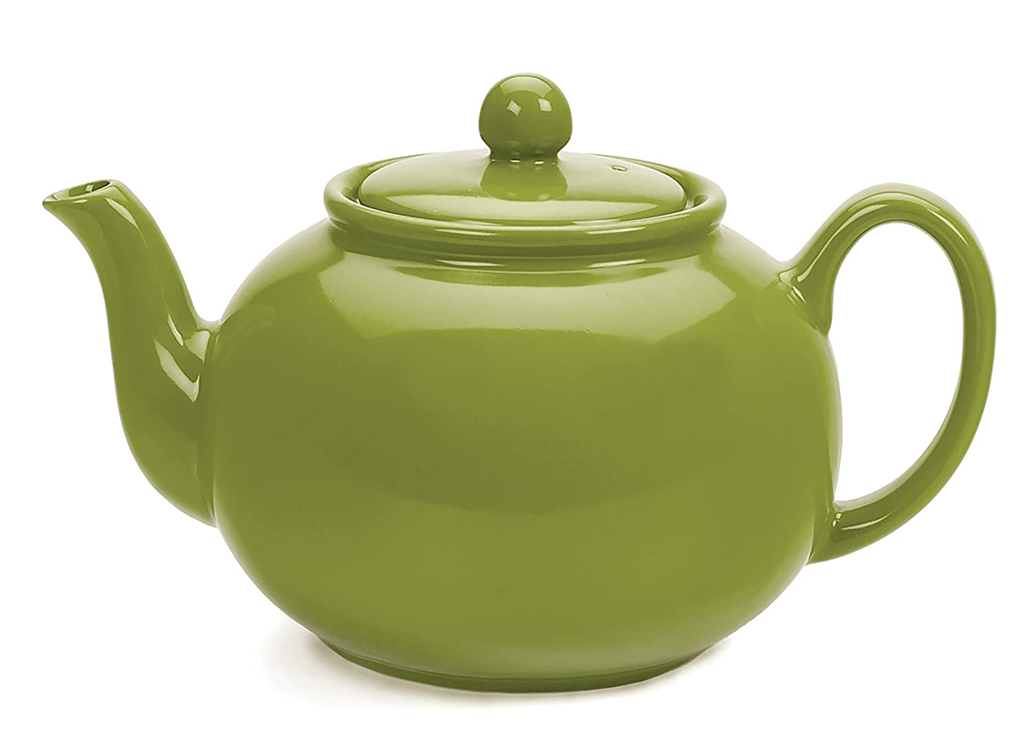 RSVP Large Stoneware 6-Cup Teapot, Green