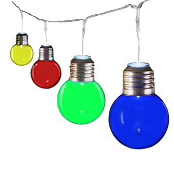 Gadgy ® Guirnalda Luces Colores | Cadenas de 25 Bombillas LED Plástico | Luces Para Patio