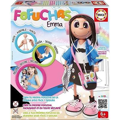 Educa Borrás- Fofucha Emma muñeca Estudiante (16375): Juguetes y juegos