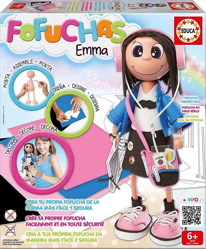 Educa Borrás Fofucha Emma muñeca Estudiante 16375: Amazon.es: Juguetes y juegos