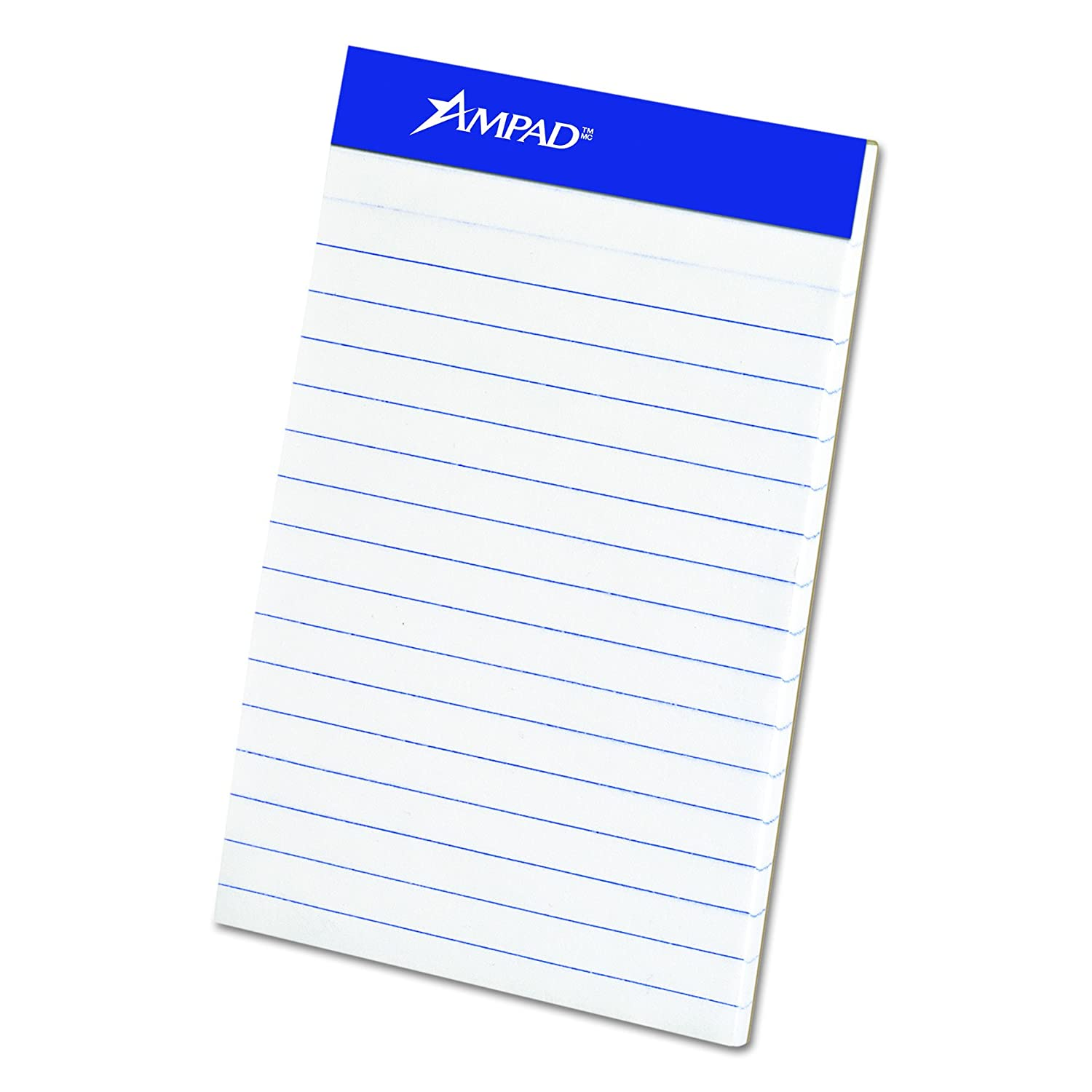 """Ampad 20-208 Evidence 3"""" x 5"""" Narrow Perforated Writing Pads - White (12 Pads of 50 Sheets Each)"""