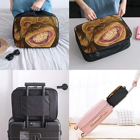Travel Luggage Duffle Bag Lightweight Portable Handbag Chimpanzee Large Capacity Waterproof Foldable Storage Tote