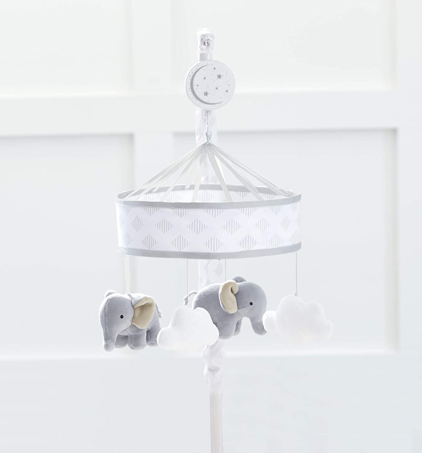 Just Born Dream Musical Mobile, Grey Elephant, Clouds, One Size