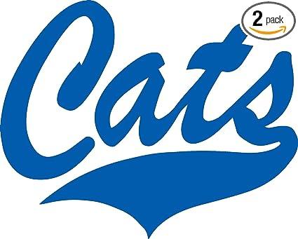 Los Gatos Wildcats (Azure Blue) (Set of 2) Premium Waterproof Vinyl Decal