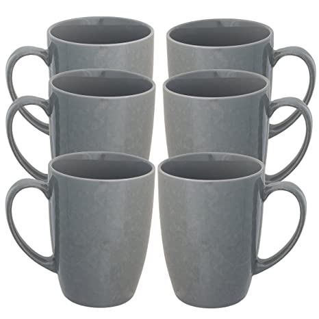 Amazon Com Fuse 6 Pack Porcelain Coffee Mug With Handles Set