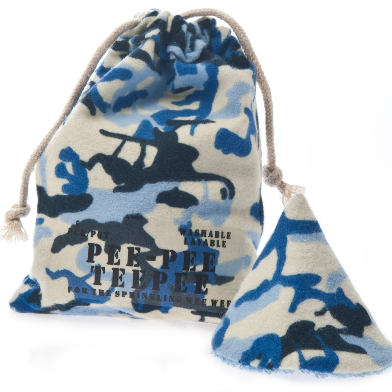 Pee-pee Teepee Camo Blue - Laundry Bag