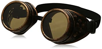 84237eace71 Image Unavailable. Image not available for. Color  Leegoal Cyber Goggles  Steampunk Cosplay Vintage ...