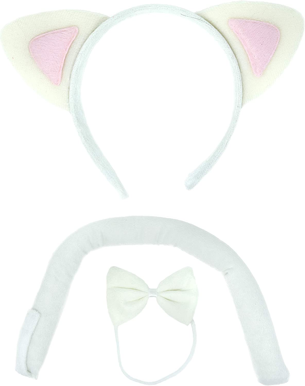 Nekomimi Ears Clip In Ear White Costume Ears: My Little Pony Rarity Ears Princess Celestia Halloween Costume White Cat Costume