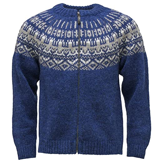 Icewear Elis Lopapeysa Mens Full Zip Sweater Icelandic Wool