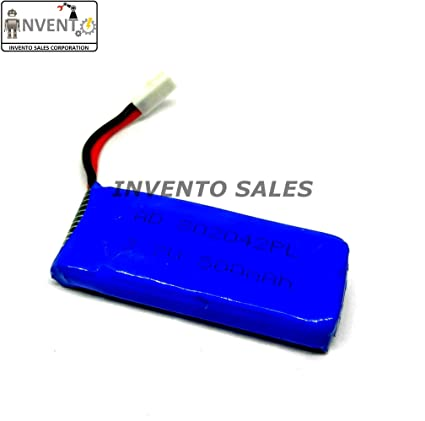 22e6cbf663d INVENTO LiPo 3.7V 500 mAh 1 Cell 20 C Battery for Mini  Amazon.in   Electronics