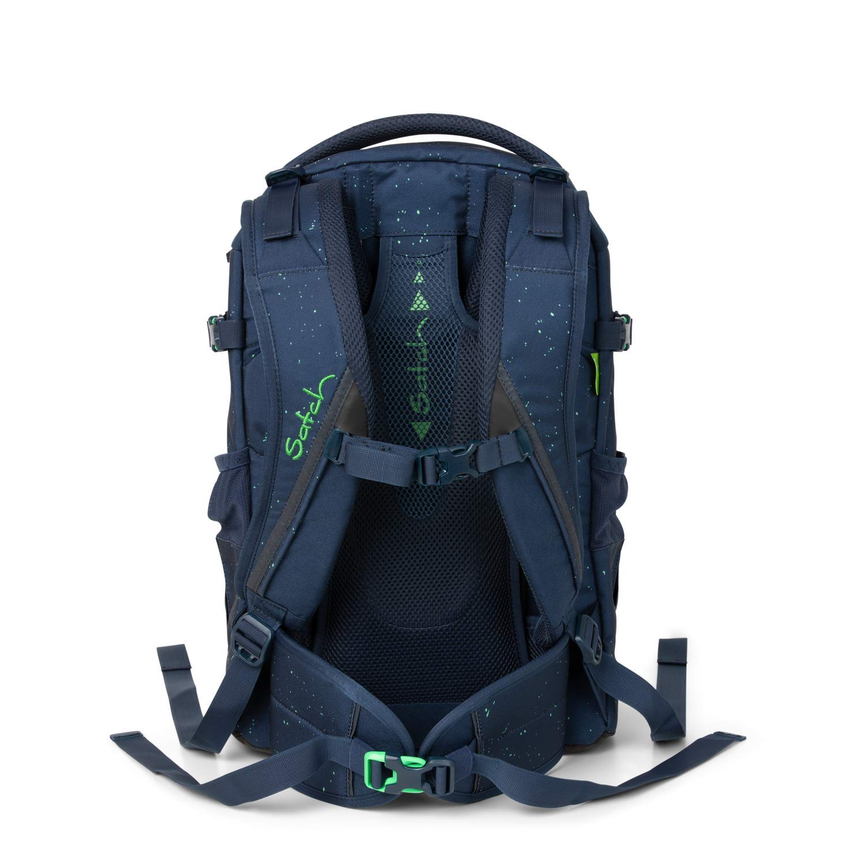 Satch Pack Space Race 2er Set Schulrucksack /& Regencape blau
