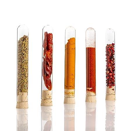 100 provette di laboratorio in vetro con tappi in sughero agglomerato 100 x /Ø16 mm con parete spessa tubicini per provette 100