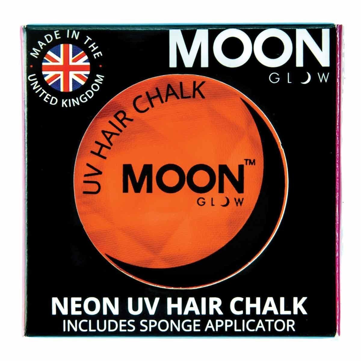 Moon Glow - Blacklight Neon Hair Chalk 0.12ozOrange– Glows brightly under Blacklights / UV Lighting!