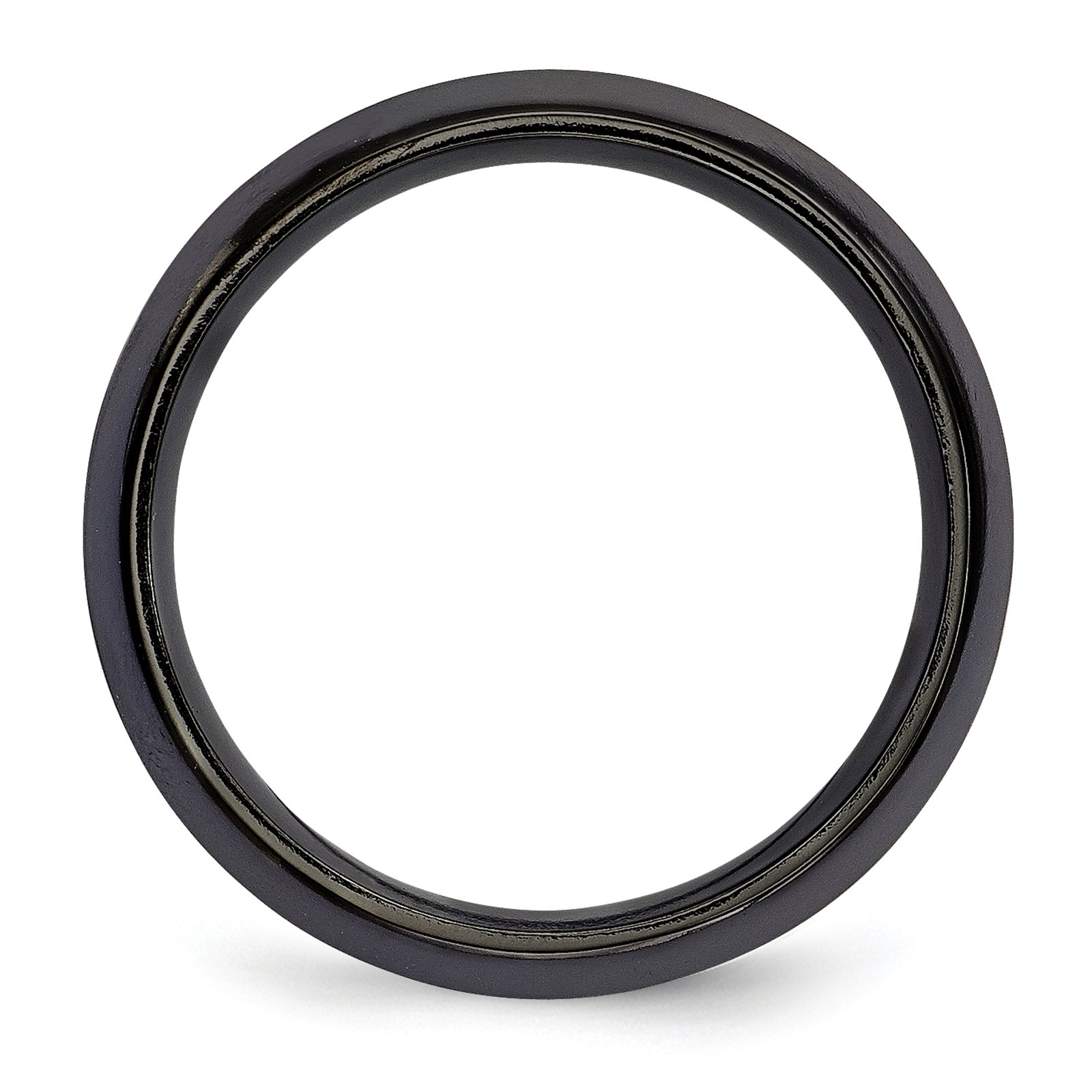 Titanium Black Ti w/Sterling Silver Inlay Celtic Design 9mm Wedding Band Size 10.5 by Edward Mirell by Venture Edward Mirell Titanium Bands (Image #2)