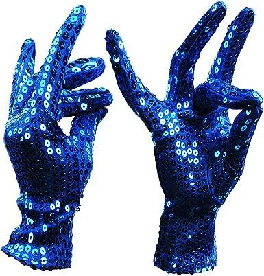 Sobotoo 1 par de guantes de disfraz de Michael Jackson para ...