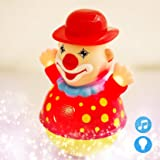Akhand Musical Songs and Lights Roly Poly Clown Joker Educational Tumbler Toy